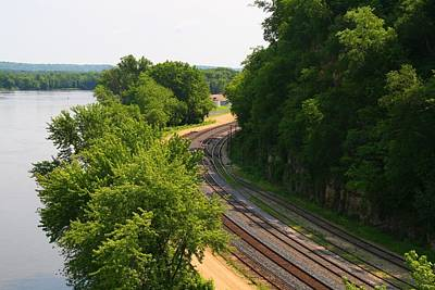 Photograph - Lake Pepin Railroad Tracks by Kathryn Meyer