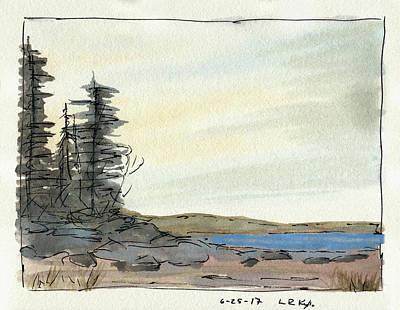 Mixed Media - Lake Pines by R Kyllo