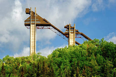 Photograph - Lake Placid 90 And 120 Meter Olympic Ski Jump Towers  -  Lakeplacidskitowers172519 by Frank J Benz