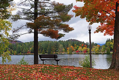 Photograph - Lake Placid Autumn Day Autumn Leaves by Toby McGuire