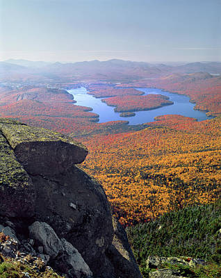Photograph - Lake Placid From Whiteface Mtn. V by Ed  Cooper Photography