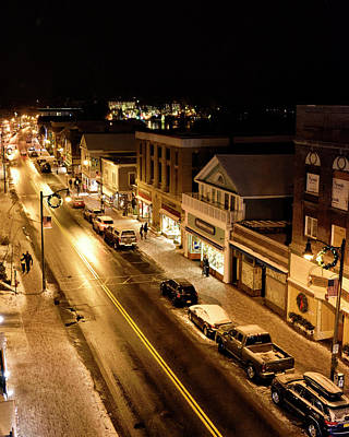 Photograph - Lake Placid New York - Main Street by Brendan Reals
