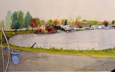 East Hampton Painting - Lake Pocotopaug by Katherine  Berlin