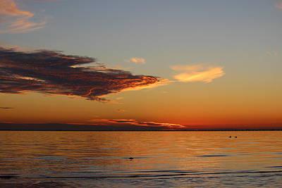 Photograph - Lake Pontchartrain Sunset by Beth Vincent