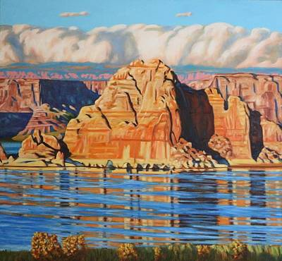 Painting - Last Light Lake Powell by Allen Kerns