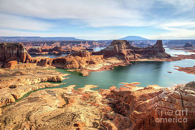 Photograph - Lake Powell As Viewed From Alstrom Point by Spencer Baugh