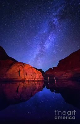 Nightsky Photograph - Lake Powell Cosmos by Inge Johnsson