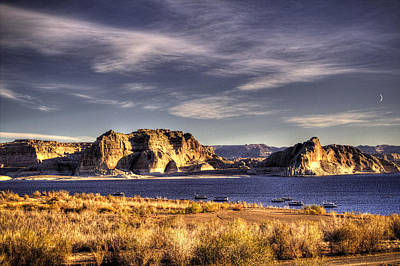 Photograph - Lake Powell Harbor At Sunrise by Roger Passman