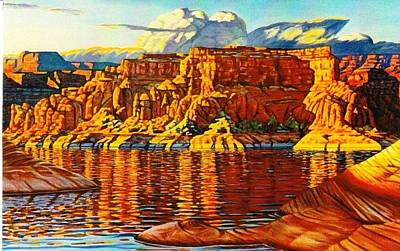 Painting - Lake  Powell Sunset by Allen Kerns