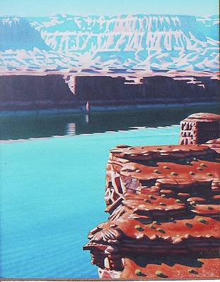 Painting - Lake Powell Overlook by Allen Kerns