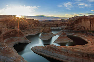 Photograph - Lake Powell Sunburst by Johnny Adolphson