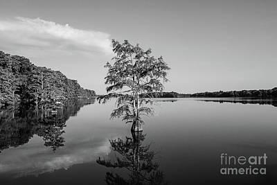 Photograph - Lake Providence Louisiana - Bw by Scott Pellegrin