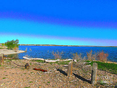 Photograph - Lake Pueblo Painted by Kelly Awad