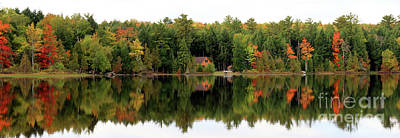 Photograph - Lake Reflections Panorama 4370 4371 by Jack Schultz
