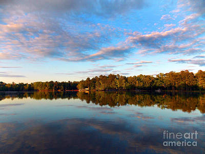 Lake Reflections Print by Skip Willits