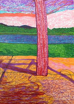 Balboa Drawing - Lake Relaxing  by Ishy Christine