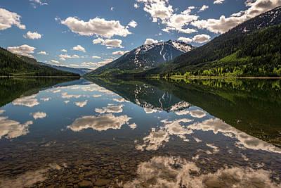Lake Revelstoke Clouds Art Print
