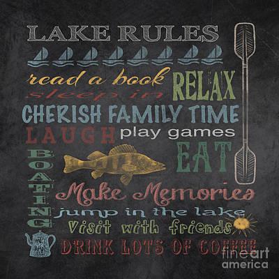 Boating Digital Art - Lake Rules Jp2872 by Jean Plout