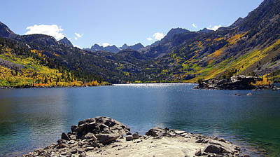 Lake Sabrina In Fall Colors Art Print