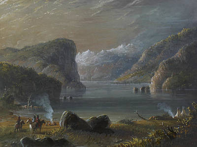 Lake Scene Art Print by Alfred Jacob Miller