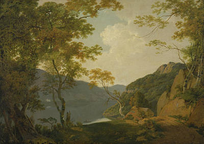 Lake Scene Art Print by Joseph Wright