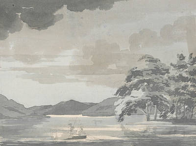 Lake Scene Art Print by Paul Sandby