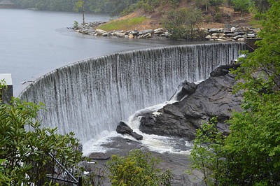 Photograph - Lake Sequoyah Dam Highlands Nc by rd Erickson