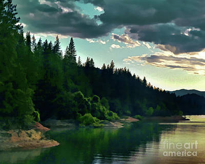 Painting - Lake Shasta Painterly	 by Peter Piatt