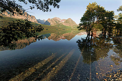 Photograph - Lake Sherburne by Jack Bell