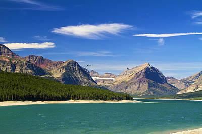 Photograph - Lake Sherburne Many Glacier Montana by Waterdancer