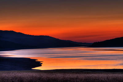 Photograph - Lake Sherburne by Mark Kiver