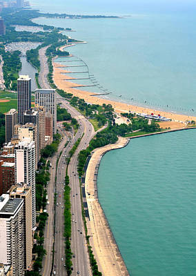 Photograph - Lake Shore Dr . Chicago by Charles Bacon Jr