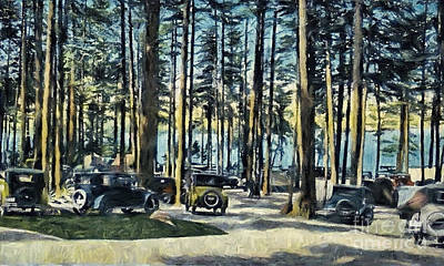 Lake Shore Park - Gilford N H Art Print