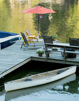 Lake-side Dock Art Print