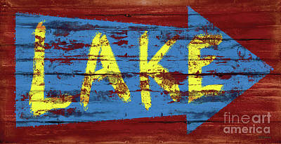 Painting - Lake Sign by JQ Licensing