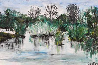 Art Print featuring the painting Lake by Sladjana Lazarevic
