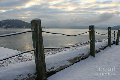 Photograph - Lake Snow by Idaho Scenic Images Linda Lantzy