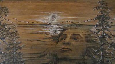 Mixed Media - Lake Spirit by Barbara Prestridge