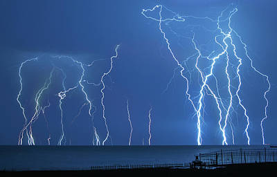 Tecumseh Photograph - Lake St. Clair Lightning by Cale Best