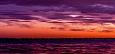 Photograph - Lake St. Clair Sunset by Optical Playground By MP Ray