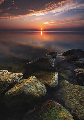 Tecumseh Photograph - Lake St. Clair Sunstar by Cale Best