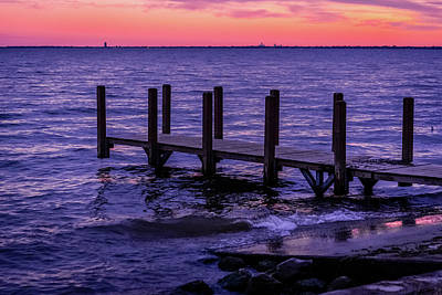 Photograph - Lake St.clair Sunset by Optical Playground By MP Ray