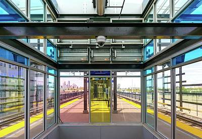 Railroad Stations Photograph - Lake Street Light Rail Station  by Jim Hughes