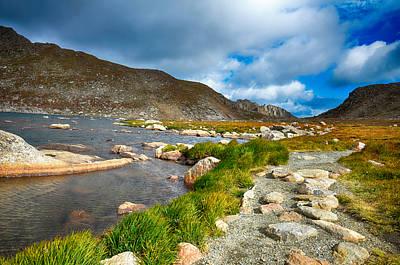 Mount Rushmore Mixed Media - Lake Summit Tundra Path by Angelina Vick