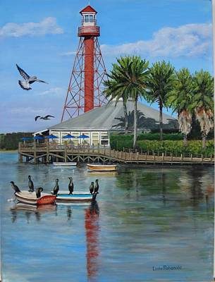 Anhinga Painting - Lake Sumter Lighthouse by Leda Rabenold