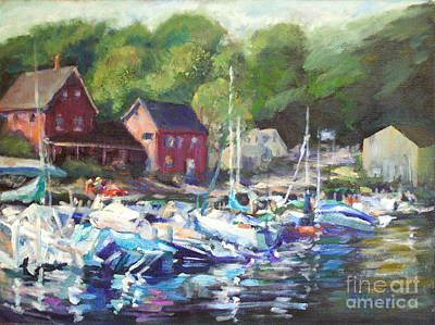 New Hampshire Artist Painting - Lake Sunapee Harbor by B Rossitto