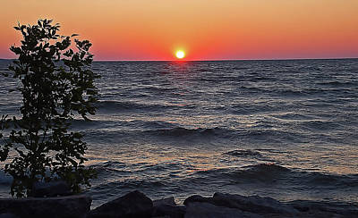 Sea Photograph - Lake Sunset by Aimee L Maher Photography and Art Visit ALMGallerydotcom