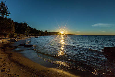 Photograph - Lake Sunset by Jack R Perry