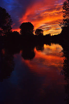 Photograph - Lake Sunset Reflections by Jeremy Hayden