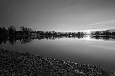 Photograph - Lake Sunset by Richard Keer
